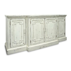 Alex Buffet - The Simple Life Decor offers this quaint Alex Buffet storage cabinet from the Chatham Hill collection. The Buffet features an extended interior allowing for extra storage space.  Beauty means brawn as the cabinet boasts intricately designed ornate doors which bear the look and feel of stained glass windows. This item reflects the handmade quality of Chatham Hill, which is crafted using the most durable American maple and poplar hardwoods. It comes available in premium and standard finishes in a variety of colors to include: red, white, purple, aqua, lime, orange and green. Your Chatham Hill piece will ship approximately 6-8 weeks from the time you place your order.  Enjoy free curbside shipping to the US (up to $150).