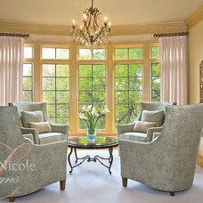 Traditional Living Room by Lauren Nicole Designs