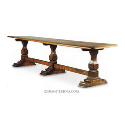 ERA Interiors - French Country Triple Pedestal Dining Table - ERA Interiors