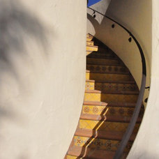 Mediterranean Staircase by Jeffrey Gordon Smith Landscape Architecture