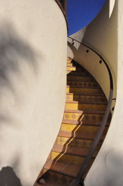Mediterranean Staircase by Jeffrey Gordon Smith Landscape Architecture