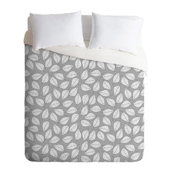 DENY Designs - Bianca Green Leafy Duvet Cover - Turn your basic, boring down comforter into the super stylish focal point of your bedroom. Our Luxe Duvet is made from a heavy-weight luxurious woven polyester with a 50% cotton/50% polyester cream bottom. It also includes a hidden zipper with interior corner ties to secure your comforter. it's comfy, fade-resistant, and custom printed for each and every customer.