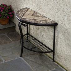 Contemporary Outdoor Lounge Furniture Basilica Mosaic Outdoor Console Table Multicolor - 21-1319