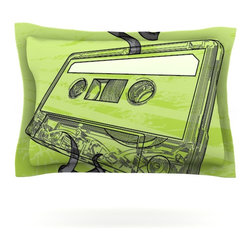 "Kess InHouse - Sam Posnick ""Mixtape"" Pillow Sham (Cotton, 30"" x 20"") - Pairing your already chic duvet cover with playful pillow shams is the perfect way to tie your bedroom together. There are endless possibilities to feed your artistic palette with these imaginative pillow shams. It will looks so elegant you won't want ruin the masterpiece you have created when you go to bed. Not only are these pillow shams nice to look at they are also made from a high quality cotton blend. They are so soft that they will elevate your sleep up to level that is beyond Cloud 9. We always print our goods with the highest quality printing process in order to maintain the integrity of the art that you are adeptly displaying. This means that you won't have to worry about your art fading or your sham loosing it's freshness."