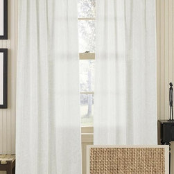 Home Decorators Collection - Airie Sheer Curtain Panel - Our sheer curtain panel is the perfect answer for a simple window dress up. This neutral window treatment will cover your bare window but will still allow for plenty of light to come in your room. Made of 100% linen. Slide onto curtain rod with the rod pocket or back tabs. One panel only.