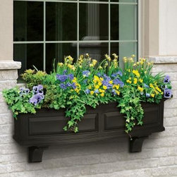 Nantucket Curved Windowbox - Nantucket Curved Windowbox available for $129 with free shipping at http://www.windowboxplanters.com