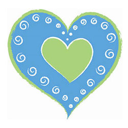 Brewster Home Fashions - Blue Heart-Shaped Self-Stick Wall Decals Set - Features: