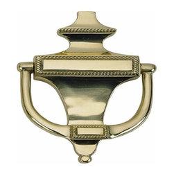 Brass Accents - Brass Accents Rope Door Knocker, Polished Brass - Brass Accents Rope Knocker - 8 Inch