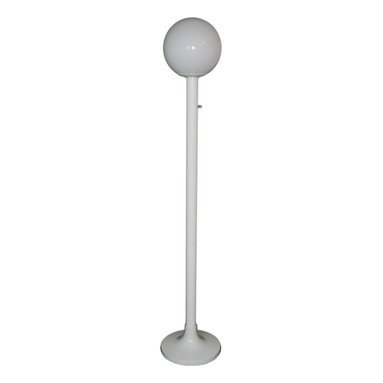 "Polymer Products - One Head Black Lamp Post with Clear Prismatic Acrylic Globes - ""One head black lamp post with clear prismatic 12 inch  acrylic globe. Stands 5'10. Uses one bulbs, 60w max (not included).  Pole is shatterproof polycarbonate and weater resistant."""
