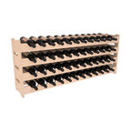 Wine Racks America - 48 Bottle Scalloped Wine Rack in Pine, (Unstained) - Stack four cases of wine in a decorative 48 bottle rack using pressure-fit joints for easy assembly. This rack requires no hardware, no tools, and is ready to use as soon as it arrives. Makes for a perfect gift and stores wine on any flat surface.