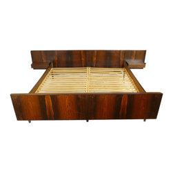Mid Century Danish Rosewood Platform Bed - Retropassion21 LLC