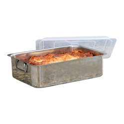 4-piece Stainless Steel Roaster Lasagna Pan Roaster