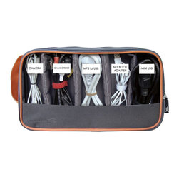 Great Useful Stuff - 2-Sided Cord Organizing Pouch - Modern living requires a variety of cords, chargers and plugins. Keep up to 10 organized in one handy pouch. Everyone in the family can store their essential pieces in one spot and you'll never be left with a dead battery again.