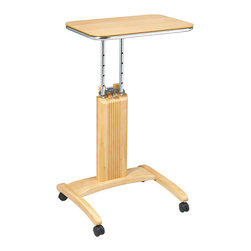 Office Star - Office Star Precision Laptop Stand In White Finish - Adjustable Height From 27 to 36  Unique patented easy to use height adjustment mechanism  User has ability to work from seated or standing position  Made from select solid wood and wood veneers finished in maple  Casters for ease of mobility with 2 locking for stability  Overall Dimensions 20 x 17 x 2736H, Part of the Precision Collection, Assembled Dimensions 20 x 17 x 36H, Weight Capacity 30