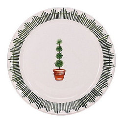Artistica - Hand Made in Italy - GIARDINO: Charger Platter - GIARDINO Collection: The Giardino (Garden) collection, is an exclusive product from Deruta of Italy.
