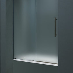 Vigo - Vigo 60-inch Frameless Tub door 3/8in.  Frosted Glass Stainless Steel Hardware R - Make your bathroom an oasis with a Vigo frameless tub enclosure.