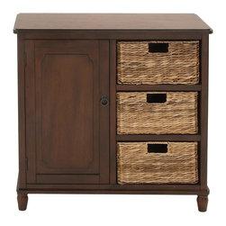 Multipurpose Stylish Classy Wood Basket Cabinet - Description:
