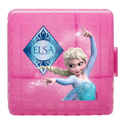 Frozen - Pink Frozen Lunch Storage Container - Give lunchtime meals character with this lovely Frozen-themed storage container. Printed with a bright picture of Elsa, it's perfect for fans of all ages.   6'' W x 4'' H x 6'' D Plastic / stainless steel BPA-free Dishwasher-safe Imported