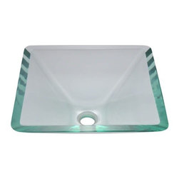 PolarisSinks - Polaris P306 Crystal Glass Vessel Sink - Our glass sinks come in a large variety of colors and styles to fit any decor. Our line of glass sinks will add elegant beauty to your bathroom. the glass sinks are manufactured using fully tempered glass. Tempered glass is stronger and can withstand higher temperatures than normal glass. the quality of the glass makes maintenance very easy. the glass is non porous and will not absorb odor or stains making it a very sanitary option in bathroom sinks. Our glass sinks are covered by a Limited lifetime warranty. Each sink comes with a cardboard cutout template and mounting hardware.