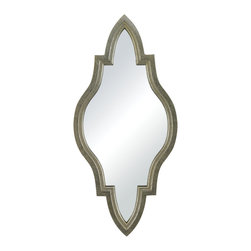 Sterling Lighting - Sterling Lighting Jacarand-Moroccan Inspired Mirror In Silver Frame - Sterling Lighting Jacarand-Moroccan Inspired Mirror In Silver Frame 138-066
