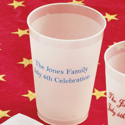 Grandin Road - Set of 100 12-oz. Frosted Personalized Tumblers - Our festive Personalized Serving Accessories provide an effortless way to serve refreshments at summer barbecues, picnics and 4th of July parties. Customize these disposable cups and beverage napkins with your three-letter monogram or a special greeting for guests to add a personal touch to your outdoor party. Each party accessory comes in convenient sets of 100 to cater to large-scale outdoor entertaining. Personalized items are non-returnable. Monogram letters will appear in the order in which they are entered.