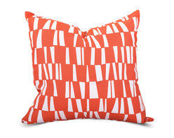 Majestic Home - Outdoor Salmon Sticks Large Pillow - Style and comfort are just as important for casual spaces like the patio or den as they are anywhere else, so you need a throw pillow that's made to take the slings and arrows of everyday life. This pillow's cute printed cover is treated to withstand the elements and removable for easy cleaning of spills and smudges. It'll add some bold color and cushiness to your family parties and still look fresh the morning after.