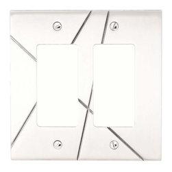 Atlas Homewares - Atlas Nsdr-Ch Modernist 487-Inch Double Rocker Switch Plate Chrome - Atlas Nsdr-Ch Modernist 487-Inch Double Rocker Switch Plate Chrome