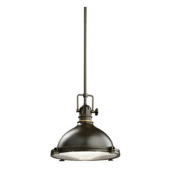 Kichler - Kichler 2665OZ Hatteras Bay Single-Bulb Indoor Pendant w/Cone-Shaped Metal Shade - Product Features: