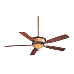 Minka Aire - Minka Aire Santa Lucia Ceiling Fan in Cattera Bronze - Minka Aire Santa Lucia Model F820-CT in Cattera Bronze with Dark Walnut Finished Blades. Integrated Light Fixture with Cognac Fluted Ethched or Silver Patina Glass (depending on fan finish).