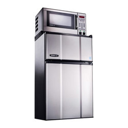 MicroFridge - MicroFridge 402936 2.9 cu. ft. Refrigerator / Freezer and .7 cu. ft. Microwave - - Shop for Compact from Hayneedle.com! Designed for small kitchens apartments rec rooms dorms and the the office the MicroFridge 402936 2.9 cu. ft. Refrigerator / Freezer and .7 cu. ft. Microwave - Stainless Steel is beautiful and practical. A refrigerator and freezer combo allows you to keep your favorite snacks foods beverages and frozen foods handy. The refrigerator features two shelves one tray an auto-defrost and white interior while the microwave has electronic pad controls an LED display clock and removable glass carousel.About AvantiAvanti has been a leader in the Consumer Appliance Industry for over 30 years. They specialize in compact to full-sized refrigerators upright and chest freezers wine coolers water dispensers and more. Avanti's reputation has been built by providing quality products at a great value. They are known for our compact refrigerators for the home office and dormitory. Avanti compact refrigerators have become popular with hotel chains nationwide as in-room refrigerators and refreshment centers.
