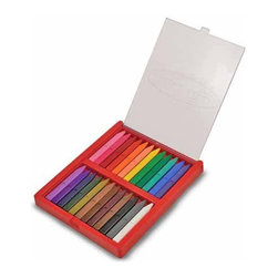 Triangular Crayons - I love these crayons, especially because of their triangular shape that keeps them from rolling off the table.