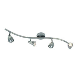 Trans Globe Lighting - Trans Globe Lighting W-466 BN Track Light In Brushed Nickel - Part Number: W-466 BN