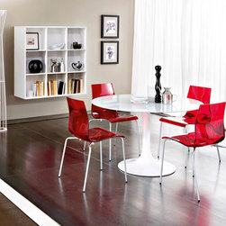 Gel-B Stacking Chair By Domitalia - All the furniture and accessories within your decor will jell together once you add the Gel-b Stackable Dining Chair to the mix. The clean lines and contemporary shapes of the Domitalia Gel-b Stackable Dining Chair make your dining area complete.