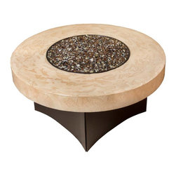 "Designing Fire - Gas Fire Pit - Oriflamme Tuscan Fire Pit, 38"" Round - Oriflamme Fire Pit Table Round Tuscan"