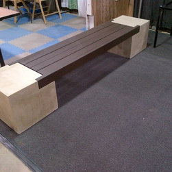 Creations - Outdoor bench, modified Cheng design.
