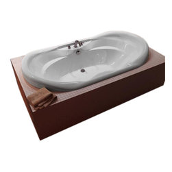 Spa World Corp - Atlantis Tubs 4170I Indulgence 41x70x23 Inch Oval Soaking Bathtub - The Indulgence series is equipped with two cockpits, providing molded arm and back support. Drop-In installation ensures that the Indulgence whirlpool bathtub will fit into various styles of bathroom settings. Increased height of side edges creates additional support, while adding comfort.  Soaking bathtubs are a more traditional style bath tub without water or air systems.  Soaking in warm water will sooth the body, boost cardiac output, lower blood pressure and improve circulation.  Water also hydrates the skin and helps pores eliminate toxins.  Drop-In tubs have a finished rim designed to drop into a deck or custom surround.  They can be installed in a variety of ways like corners, peninsulas, islands, recesses or sunk into the floor.  A drop in bath is supported from below and has a self rimming edge that is designed to sit over a frame topped with a tile or other water resistant material.  The trim is featured in white to color match the tub.