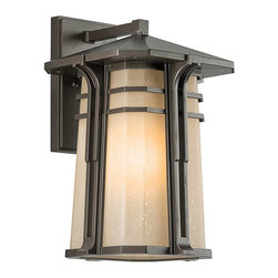 Kichler - Kichler North Creek Outdoor Wall Mount Light Fixture in Olde Bronze - Shown in picture: Outdoor Wall Lantern 1Lt in Olde Bronze