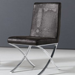 Arezzo Modern Dining Chair - Sleek modern design upholstered in water/stain resistant animal friendly synthetic leather make the Arezzo Modern Dining Chair the perfect addition to your contemporary dining room decor.