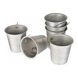 Aluminum Sap - Set of 6 vintage aluminum sap collecting cups.