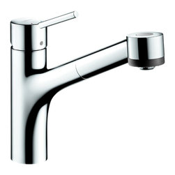 Hansgrohe - Hansgrohe Talis S Single-Hole Pull-Out Spray Kitchen Faucet, LowFlow (06462001) - Hansgrohe 06462001 Talis S Single Hole Kitchen LowFlow