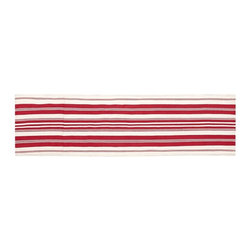 Oxford Stripe Indoor-Outdoor Rug, Red - This red striped runner would add a punch of color to any kitchen. And the fact that it's fit for indoors and out means that it will hold up to all the spills and traffic that come through this hardworking room.