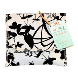 Eco Ditty Sandwich Bag - Whispering Grass Black And White - eco ditty is the perfect sandwich bag. Made from 100% organic cotton they are easily adjustable to handle all types of sandwiches.