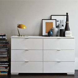 Madison 6-Drawer Dresser - Minimalist style meets maximum storage. Made in Denmark, this roomy dresser boasts the pure, clean lines and simple functionality that are signatures of Danish design. A modern classic.