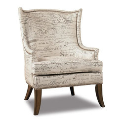 Hooker Furniture - Sanctuary Paris Accent Chair - Wing back. Upholstered seat and back. Lakefield document fabric upholstery. Tapered legs. Nailhead trim. Four floor glides. Arm height: 22.5 in.. Seat height: 18.25 in.. Overall: 33.25 in. W x 28.5 in. D x 38.25 in. HWhen you walk into your home at the end of that long day, you will be delighted and your spirit will be renewed. Pursue serenity at home. Create your own personal sanctuary, a special place where you can experience comfort within.
