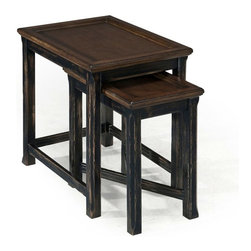 Magnussen - Magnussen Clanton Wood Bunching End Table in Antique Black - Magnussen - End Tables - T236512 - About This Product: