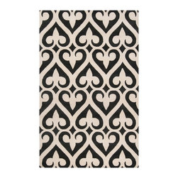"Surya - Surya - Zuna Rug in Black Olive/White - The Zuna collection was developed by Jill Rosenwald, a top designer in handmade ceramics. She has established a partnership with Surya to develop rugs with her unique style. Her designs are known for their ""stylish sensibility""...where popular colors and natural design elements merge. Price varies by size from $120.00 to $2303.00."