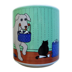 Taylor and Ng - Classy Critter Doggy Do Good Mug - Taylor & N - Doggy Do-Good in a color design on a White 11 oz Ceramic mug. Dishwasher, microwave safe. Classy Critter Mugs collection. Stackable for easy storage. 3.25 in. L x 3.25 in. W x 3.5 in. H