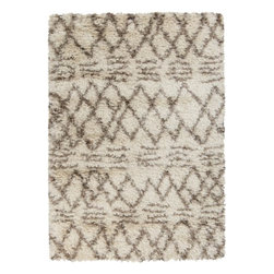 Surya Rugs - Trellis Shag Area Rug RHA-1021 - 50% Wool / 50% Polyester. Rugs Size: 2' x 3'. Note: Image may vary from actual size mentioned.