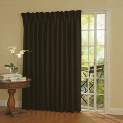Insola - Insola Patio Door Thermal Blackout Curtain Panel - The Insola Patio Door Thermal Blackout curtain is a great alternative to vertical blinds and blocks light, reduces noise and helps you to save on heating and cooling costs. Perfect for any room with a patio door.