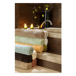 Natural Bamboo Bath Mat - 40% Rayon made from Bamboo / 60% Combed Egyptian Cotton.